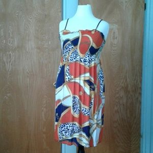 Tube top dress multicolor